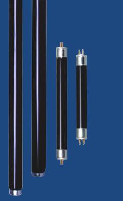 T Shape Black Light Blue Lamp